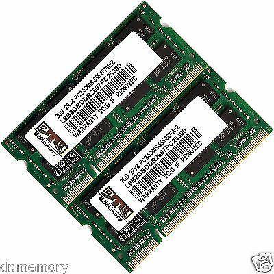 4GB 2x2GB Memory Ram Upgrade for Dell Inspiron 1720