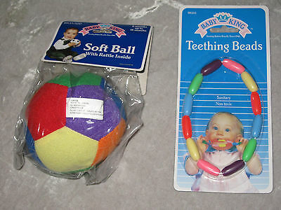 Colorful Soft Ball Baby Rattle Teething Beads Jingling Bell NEW!