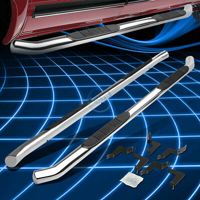 "Chrome Stainless 3"" Side Step Nerf Bar For 2007-2016 Toyota Tundra Crewmax Cab"