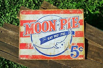 Lookout Moon Pie Tin Metal Sign - MoonPie - Since 1917 - Snack Cake - Retro