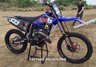 Yamaha BTO YZF YZ WR125 250 450 Graphics Decals any year 1990-present