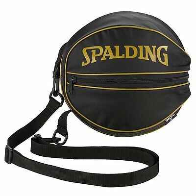 SPALDING JAPAN Basketball ball Carry Case Shoulder Bag Black Gold 49-001