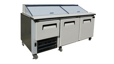 Cooltech 2-1/2 Door Refrigerated Sandwich Prep Unit 72""