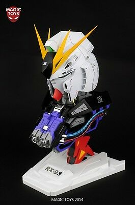 Magic Toys 1/35 RX-93 NU Gundam Head Base Model Kit With LED System And Decals