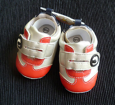 Baby clothes BOY 9-12m NEW! Just Too Cute football boots/shoes No.10 red/silver