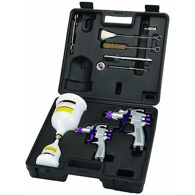 Professional Automotive High Volume Low Pressure Spray Gun Kit with Accessories