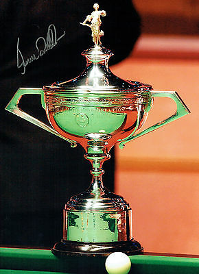 Ronnie O'SULLIVAN Signed Autograph 16x12 Snooker Champion Trophy Photo AFTAL COA