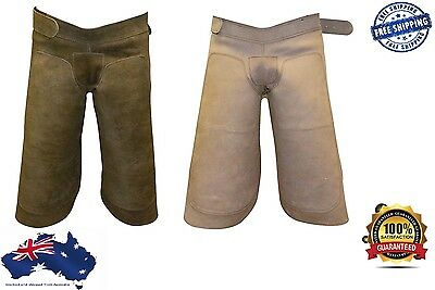 Farrier Chaps Apron Suede Leather & Nubuck Genuine Leather - FREE KNIFE INCLUDED