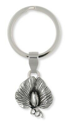 Solid Sterling Silver Sweet Pea Key Ring Jewelry SWP4-KR