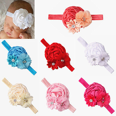 7 Pcs Girl Baby Toddler Flower Crown Headband Elastic  Hair Accessories