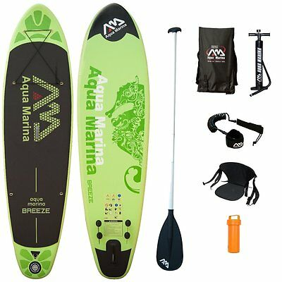 BREEZE mit ALU Paddle,KOMPLETT-Sets, iSUP Paddle-Board, Aqua Marina, 300x75x10 c