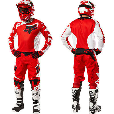 Fox 2016 Completo Maglia Pantalone Jersey Pants 180 Race Rosso Bianco Red Tg Xl