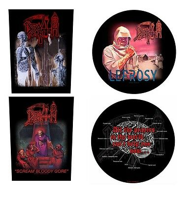# DEATH - OFFICIAL GIANT SEW-ON BACKPATCH patch leprosy scream bloody gore logo