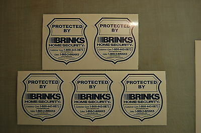 10 Brinks Home Alarm SECURITY SURVEILLANCE DECAL WINDOW DOOR STICKER Die Cut