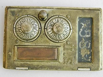 Vintage Post Office Box Front Door- Keyless Lock Company Late 1800's