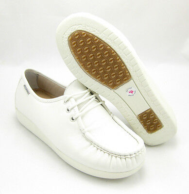 BALL-BAND W020 WHITE Comfort Anti Slip Womens NURSE Shoes CUSHIONED Laces Light