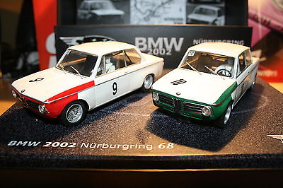 SCX Scalextric Slot Spirit 0601306 BMW 2002 Nürburgring 68 Classic Set of 2 cars