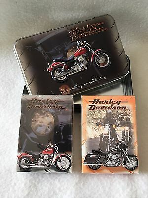 Harley Davidson Collectible Tin and Playing Cards New!