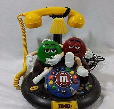 M&M's Candy Characters Animated Talking Telephone Phone Red Green