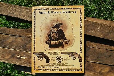 Smith & Wesson Revolvers Tin Metal Sign - Guns - Since 1852 - Safety Hammerless