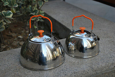 Stainless Steel Teapot Outdoor Hiking Camping Kitchen Cookware Kettle 0.6L/1.1L