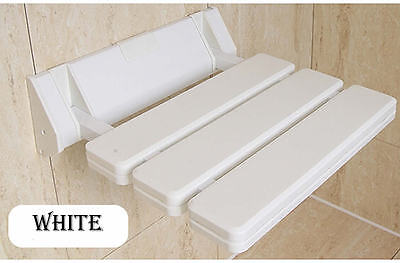 New folding relaxation ABS bath shower seat wall mounted white for bathroom