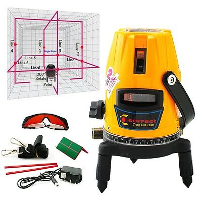 Level Measure Professional Automatic  Self Leveling 5 Line 1 Point 4V1H Laser
