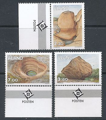 Aland Finland 1995 MNH (3) - Traces Of The Ice Age - Rock Formations - Geology