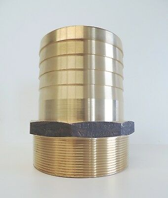 """NEW Hose Barb Brass 100mm 4"""" Male BSP - TOP QUALITY -Tail Fitting"""