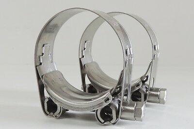 """NEW Qty 2 Hose Clamp Stainless Steel 79 - 85 mm ID T Bolt SS 3"""""""