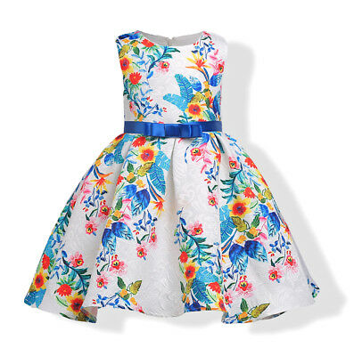 Vestito Bambina Abito Principessa Flower Girl Summer Princess Dress DG0037B P