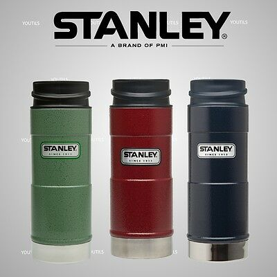 Stanley Classic One Hand Vacuum Travel Mug 354ml Green / Navy / Red