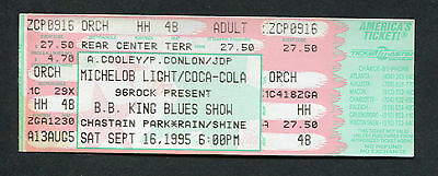 1995 BB King unused full concert ticket Chastain Park Atlanta Georgia Blues