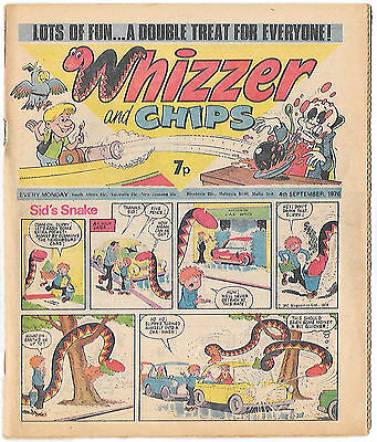 Whizzer and Chips 4 Sept 1976 (high grade) Sid's Snake, Odd-Ball, Joker, Loser