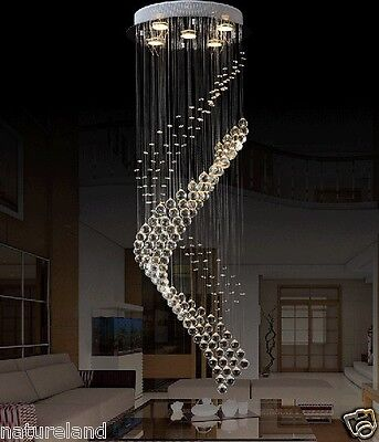 Crystal LED Chandelier Ceiling Lamp Fixture Curtain Pendant hall Lighting hang