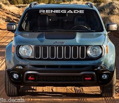 Jeep Renegade Windshield Decal