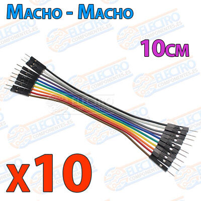 10 Cables 10cm Macho Macho jumper dupont 2,54 arduino protoboar cable