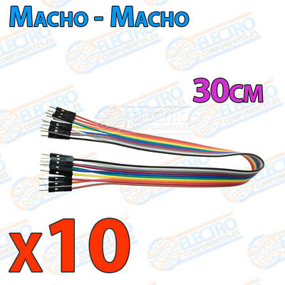 10 Cables 30cm Macho Macho jumper dupont 2,54 arduino protoboar cable