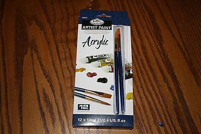 Royal & Langnickel Acrylic Paint, 12-Piece  New
