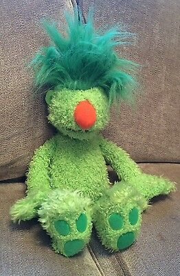 """The Hoobs """"groove"""" Green Talking Toy Jim Henson Soft Toy Muppet Tomy 2001"""