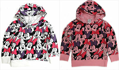 Disney Minnie Mouse Jumper Sweater Hoodie Top Age 2-8Y Bnwt Free 1St Class P&p