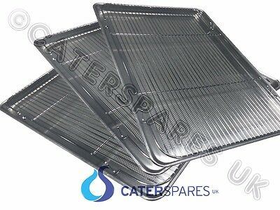 "3 x HENNY PENNY CHICKEN DISPLAY UNIT WIRE RACK & PERFORATED METAL TRAY 18"" x 26"""