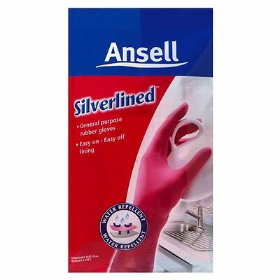 Ansell Silverlined Pink Gloves Pk Of 12