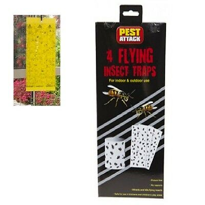4 Insect,fly Traps Flying Hanging Sticky Insect Trap Kitchen,garden Fly Trap