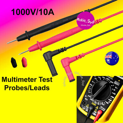 Universal 1000V/10A Multimeter Multi Meter Test Lead Probe Wire Cable - One Pair