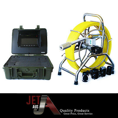 60m,self level head,sewer drain camera,512 hz,lcd screen,counter,keyboard,record