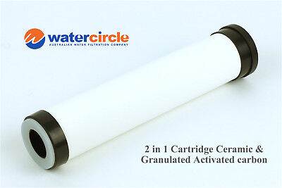 2 IN 1 ceramic & granulated activated carbon water filter 0.9 micron cartridge