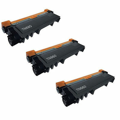 3PK High Yield TN660/630 for Brother DCP-L2520DW DCP-L2540DW HL-L2300D,HL-L2340