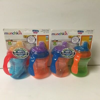 Munchkin Mighty Grip Trainer Cups, 8 Oz (2 Pack)