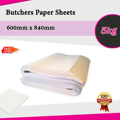 Butchers Packing White Wrapping Paper 5kg 600x840mm Agrade Sheets Same day deliv